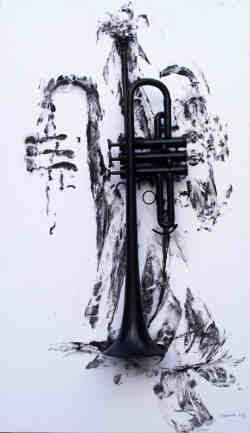 'Black Trumpet with Shroud' - By Janice Thwaites